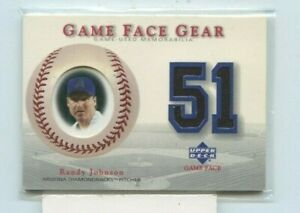 RANDY JOHNSON 2003 Upper Deck Game Face Gear Game-Worn Jersey Dual #GG-RJ HOF