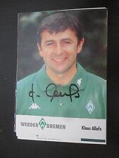 15166 Klaus Allofs DFB Nationalspieler original signierte Autogrammkarte
