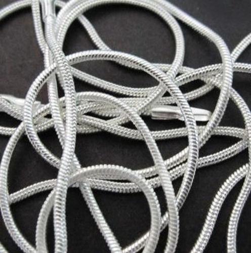 LOTS 5PCS Wholesale 925 Sterling Argent Massif 1 mm chaîne serpent Collier 16-30 in