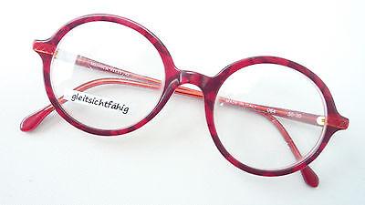 Brillante Occhiali Montatura Unisex Plastica Ovale Rotondo Rosso Marchio Monika Vitti Occhiali Sizem-mostra Il Titolo Originale
