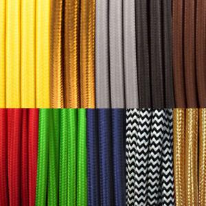 Round 2 Core Textil Stromkabel Lampen-Kabel Stoff Kabel Vintage für Kronleuchter
