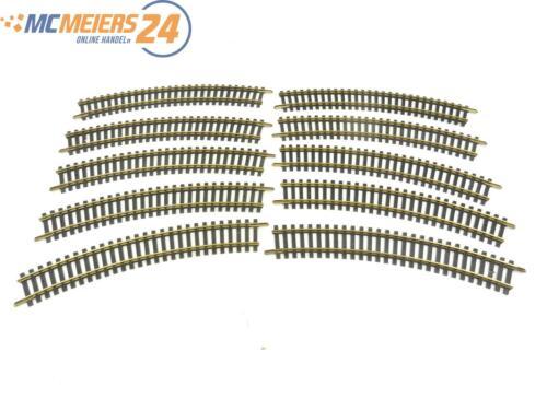 E42V210s Fleischmann H0 6025 1703 10x Gleis gebogen R=357,5