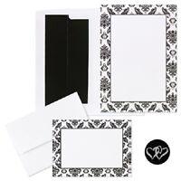 Classic Black And White Damask Printable Wedding Invitations Kit 50/pk