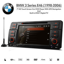 "BMW 3 Series e46 7"" HD Doppio Din Navigatore Satellitare Auto DVD USB AUX Stereo con TV digitale"