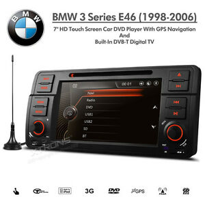 bmw 3 series e46 7 hd double din satnav car dvd usb aux. Black Bedroom Furniture Sets. Home Design Ideas