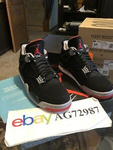 Nike Air Jordan Retro 4 Bred 308497 060