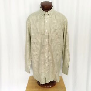 Duluth-Trading-men-039-s-check-long-sleeve-button-front-shirt-size-L-tall