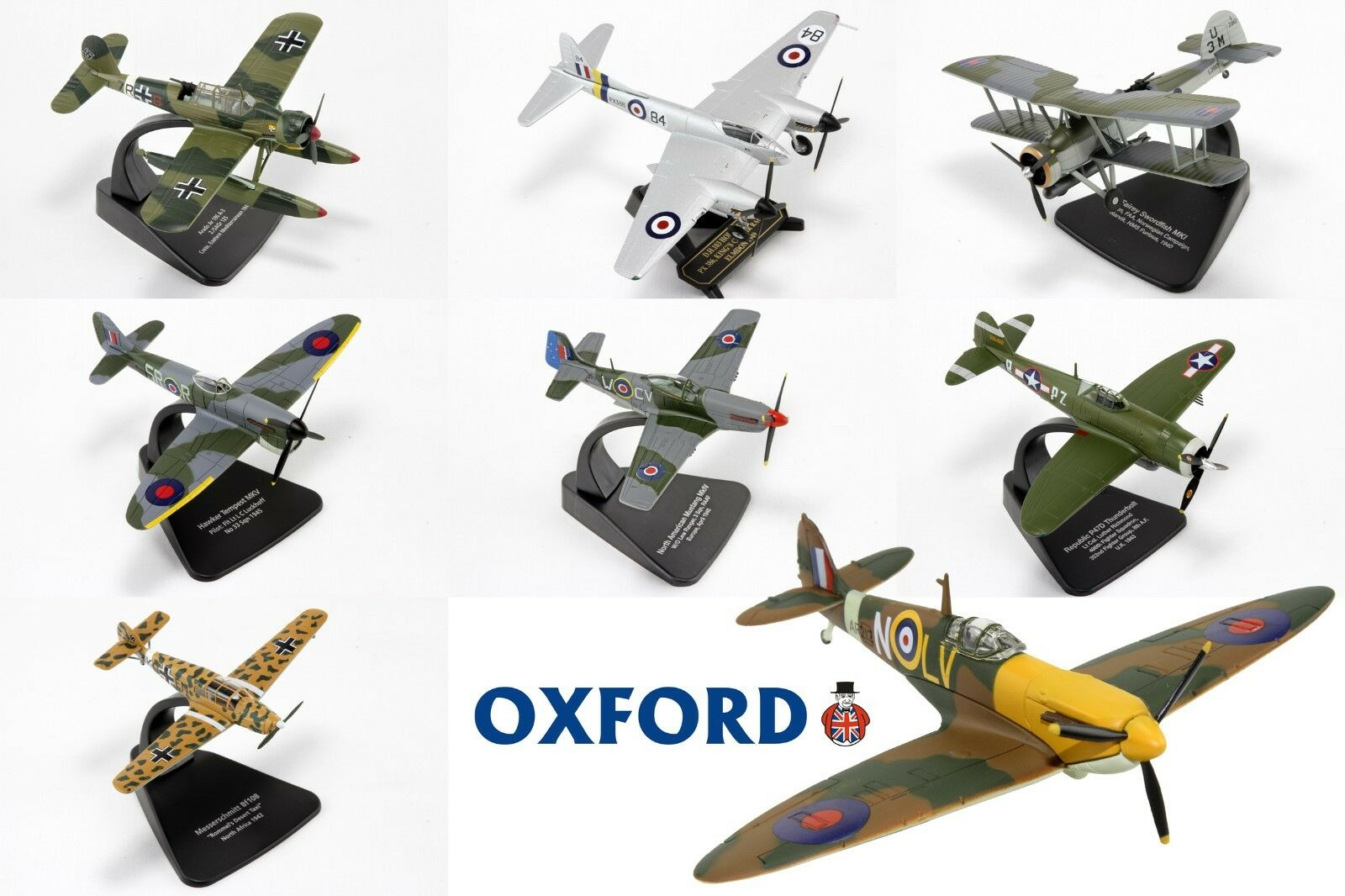 1 72 Scale Diecast Plane Aircraft Fighter By Oxford Diecast. Choose Model(s)