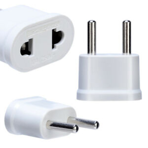 Us To Ue Plug Power Adaptateur White Travel Power Plug Adaptateur Blanc 1mal Utilisé-afficher Le Titre D'origine