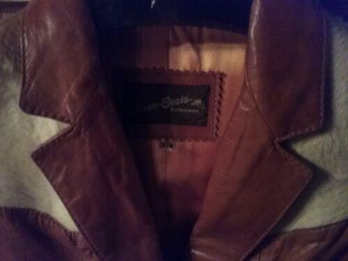 Vintage Marron 8 Geste Femme 7 Mais Beau Basique Animal Veste Vintage Leatherware E1ZH8q
