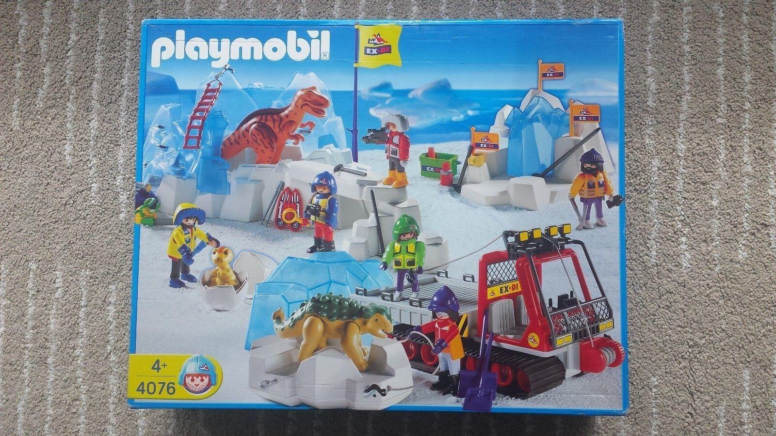 Rarität - selten - Playmobil 4076 OVP NEU Dinosaurier im Eis mit Entdecker