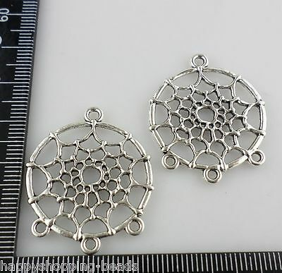 3/12/100pcs Antique Silver 1 to 3 Holes dreamcatcher Connectors Charms DIY