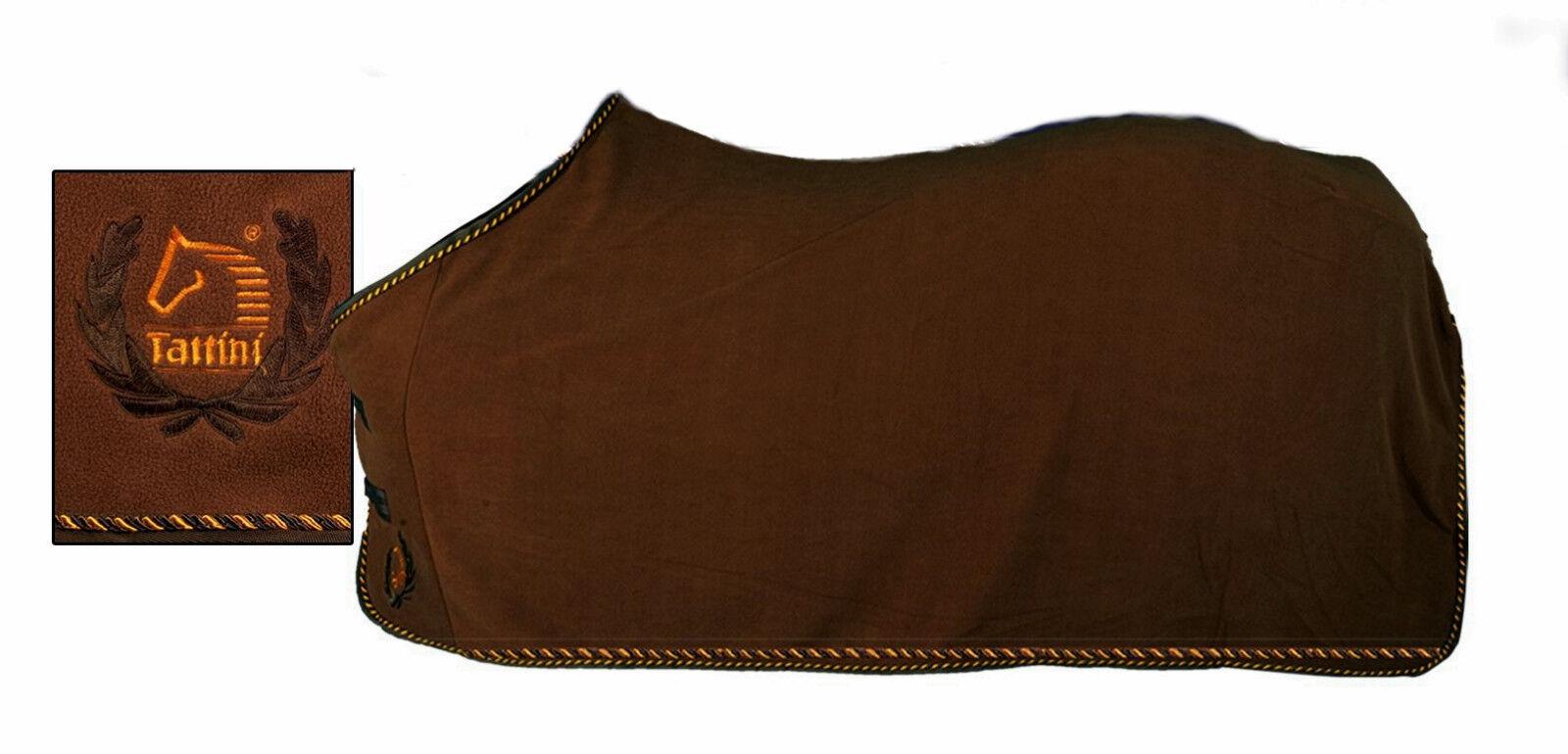 Coperta per cavalli in pile con passamaneria Tattini horse fleece rug