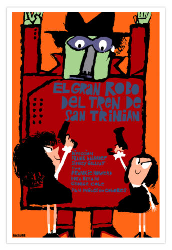"Spanish movie film Poster/""Great Saint TRINIAN Train Robbery/""Kids Robbers /& Guns"