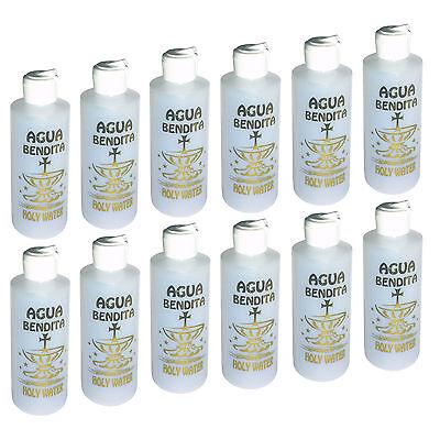 12 Botellas VACIAS Agua Bendita 4.5 oz Plasticas Iglesia Catolica Religion Jesus