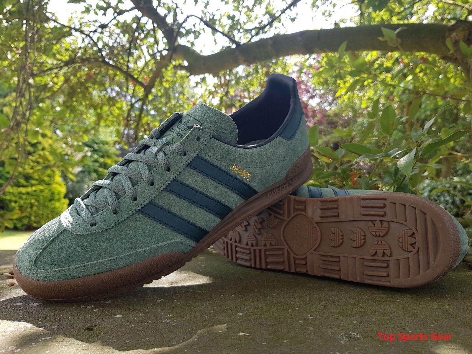 Adidas Originals Boys Mens Jeans Fashion Trainers Grün BNIBWT Größes UK 4 -10