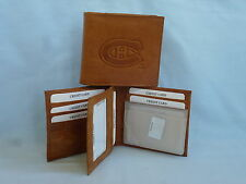 MONTREAL CANADIENS    Leather BiFold Wallet    NEW    brown 4+