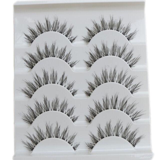 5 Pairs Makeup Handmade Natural Fashion Long False Eyelashes Eye Lashes 2017 Top