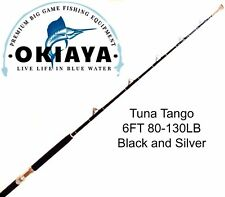 "OKIAYA COMPOSIT 6FT 80-130LB ""TUNA TANGO"" SALTWATER BIG GAME ROLLER ROD"