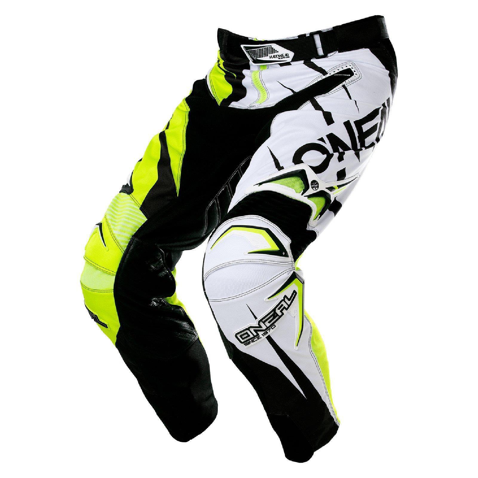 O'Neal Hardwear MX Hose JAG LE Schwarz Neon Gelb Motocross Enduro Cross Motorrad