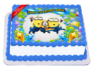 Excellent Minions Edible Icing Image Cake Topper Personalised Birthday Personalised Birthday Cards Cominlily Jamesorg