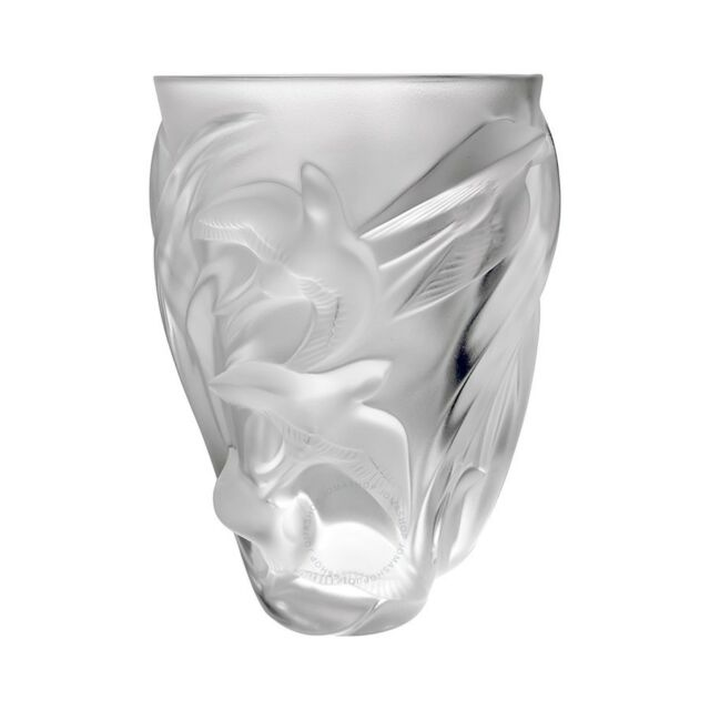 Lalique Crystal Vase Martinets 12308 Ebay