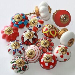 Moebelknopf-Moebelgriff-Moebelknoepfe-Keramik-Moebelknaeufe-Schubladengriff-Rot-Weiss