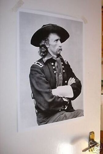 General George Armstrong Custer NEW Poster Western