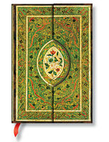 Paperblanks Lined Writing Journal Holly Rose Green Gold Midi Size 5x7