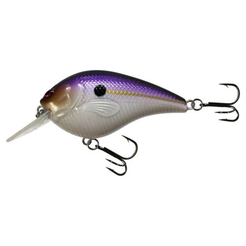 Lavender Shad FISH KDS Custom RC 1.5 Square Bill Crankbait W Rattles