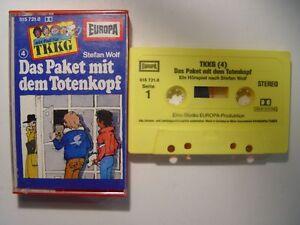 TKKG-4-Das-Paket-mit-dem-Totenkopf-gelb-Mc-Kassette-EUROPA-Hoerspiel