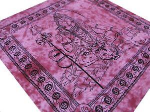 Shiva-Couvre-lit-Tenture-Batik-Fait-a-la-main-Coton-Inde-Hippie-Ganesha-Boho-A9