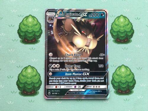 Pokemon Alolan Raticate GX SM Celestial Storm Half Art 85//168