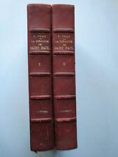 Théologie de Saint-Paul 2 vol. PRAT Galates & Romains Pastorales Rédemptiom 1913