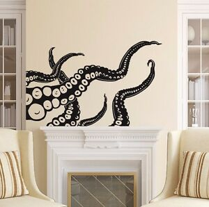 Image Is Loading Octopus Wall Decals Tentacles Decal Nautical Vinyl Sticker