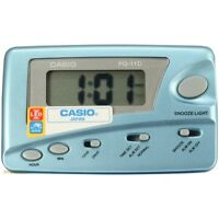 Casio Digital Blue Traveler's Snooze Led Alarm Clock Pq11d-2