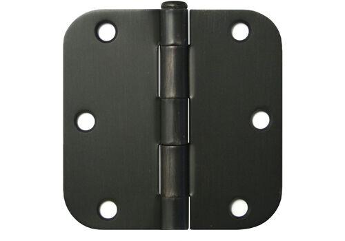"""30 Oil Rubbed Bronze 3.5/""""x3.5/"""" with 5//8 Radius Door Hinges Round Corner 3 1//2 in"""