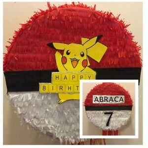 Details about Pokemon Go Pikachu Pinata with Sweets & Stick Any Character  Can be Personalised