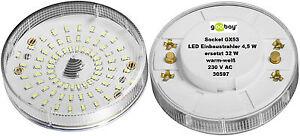 GOOBAY-LED-FOCOS-EMPOTRADOS-GX53-GX-53-sustituido-32-50W-WARM-luz-blanca-fria