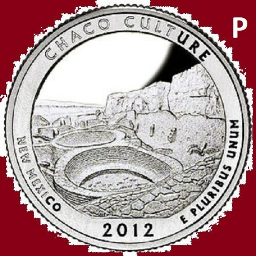 2012 P Quarter CHACO CULTURE NM NATIONAL PARK ATB  ~ UNC 2nd Stains Max .55 Ship