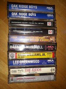 Vintage-Classic-80-039-s-Country-Music-Cassette-Tapes-Lot-Of-10