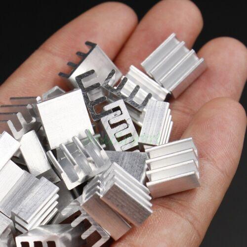 20pcs 11x11x5mm Mini Aluminium Fin Heatsink For PC IC LED Chipset RAM Cooling