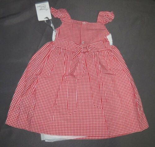 t4 Carriage Boutique Smocked Red Plaid Ocean Sun Dress