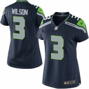 Seahawks Russell Wilson Women's Jersey Game Home Large | eBay