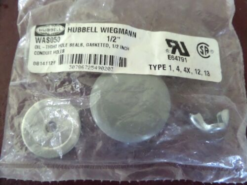 "WAS050 1//2/"" Oil Tight Hole Seals Hubbell"