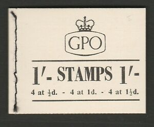 Great Britain 1954 1/- Complete booklet BD10.
