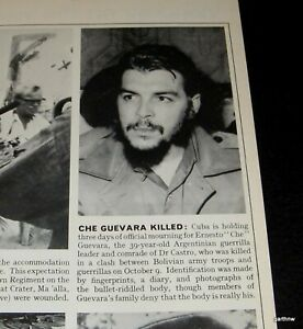 CHE-GUEVARA-1967-ORIGINAL-PHOTO-DEATH-ANNOUNCEMENT-CUBA-THREE-DAYS-OF-MOURNING