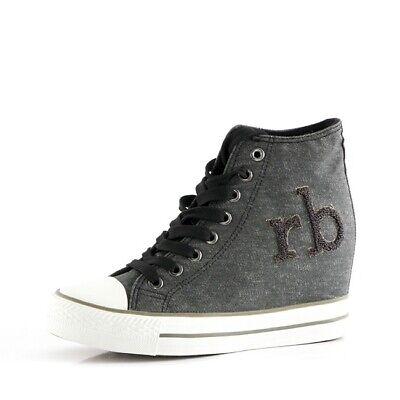 sports shoes 93fdb 972e2 Scarpe Donna RB RoccoBarocco Sneakers alta Linea Farley   eBay