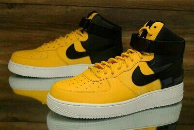 Nike Air Force 1 High '07 LV8 Yellow Black AV8364 700 Men's Shoes | eBay