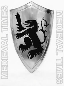 Medieval-Reproduction-Dragon-Armor-Shield-Made-Solid-Steel-Full-Size-Medieval